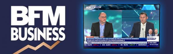 Le leader français des services de récupération de données en direct sur BFM Business